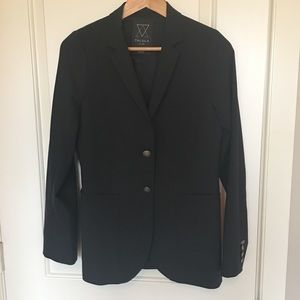 Aritzia Talula black wool blend black blazer sz 8